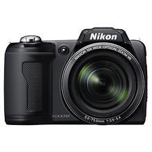Nikon Coolpix L110 black, 12.0Mpixels, 720p HD movie rec., wideangle 15x optical zoom, 5x anti-blur, 3.0