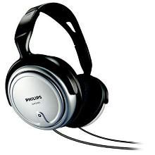 Philips SHP2500 SILVER, TV and HiFi, speakers size - 40 mm, frequency 15-22000 Hz, impediance - 32 Ohm, Sencivity - 100 dB, cord lenght - 6m.